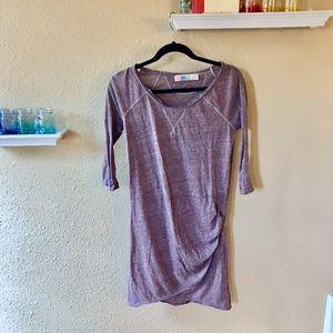 FREE PEOPLE-BEACH: PURPLE LIGHT COTTON DRESS